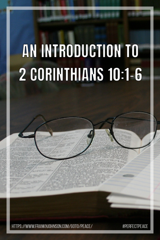 This article provides an introduction to 2 Corinthians 10:1-6 and suggests that its principles may be helpful for those struggling with mental health issues.